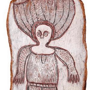 Long Wattie Kaduwara wandjina painting