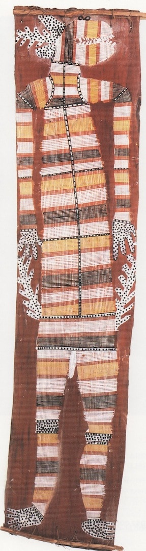Mick Kuburkuku bark painting