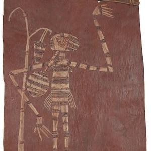 Bobby ngainjmirra bark painting