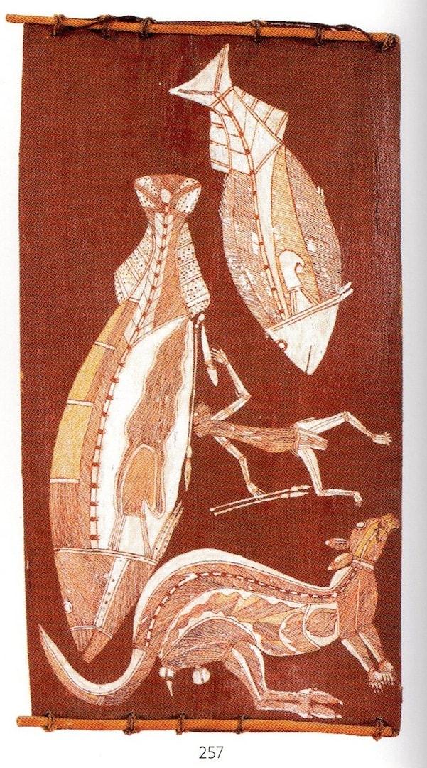 Nguleingulei fish and kangaroo