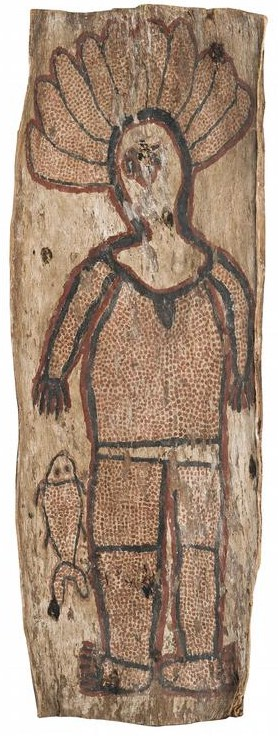 Wattie Karawara bark painting