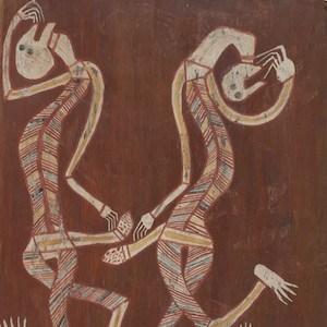 Paddy-Compass namatbara bark painting