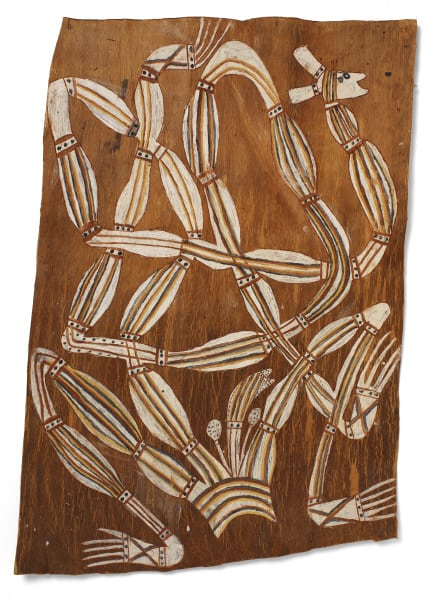 Irrwala bark painting