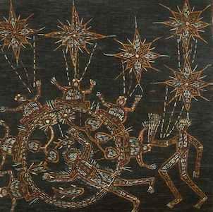 Thomas Nandjiwarra Amagula Bark Painting