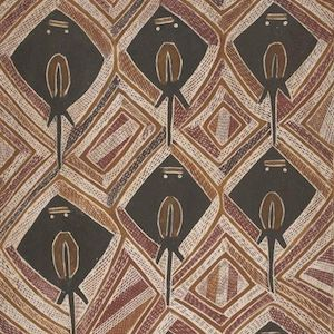 Birrikitji Gumana Yirrkala Bark Paintings