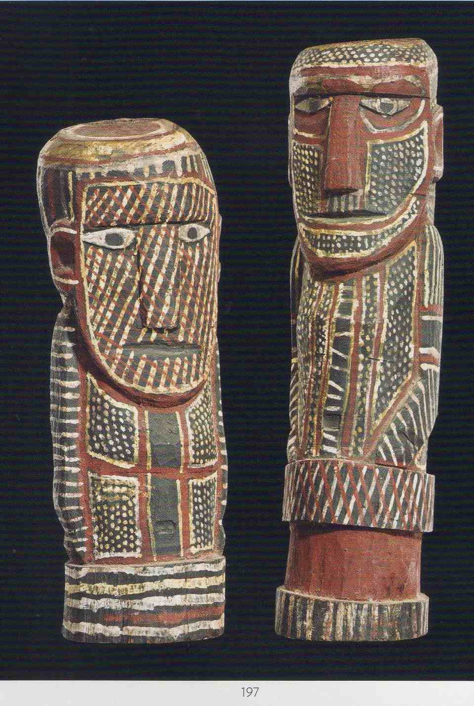 two aboriginal carvings