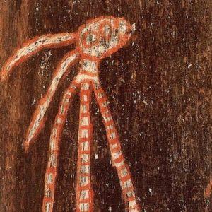 Charlie barramundi bark painting