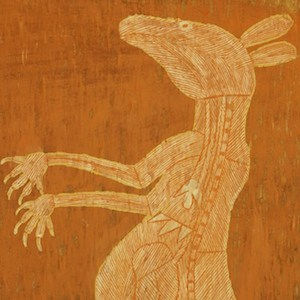 Dick murra Murra kangaroo bark painting