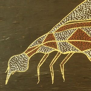 Thomas Amagula bark painting of a mosquito