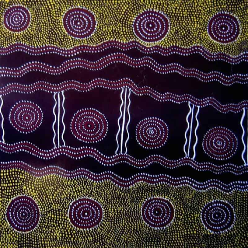 aboriginal painting by Billy Stockman Djapaltjarri 7