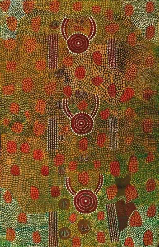 painting by Billy Stockman Djapaltjarri 6