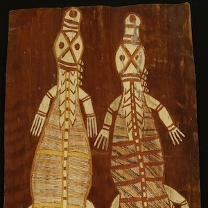 January Nonganyari Bark Painting 1 copy