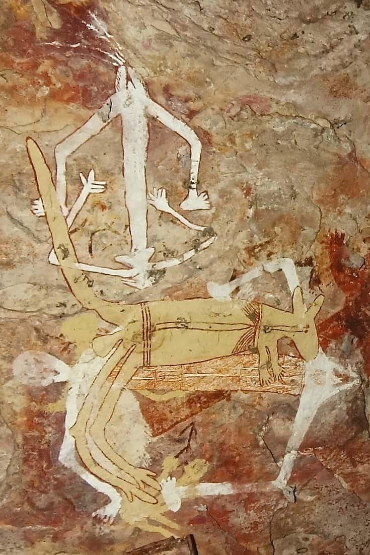 Aboriginal cave painting 2