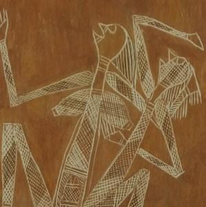 obby Ngainjmirra bark painting