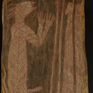 Oenpelli bark painting by unknown artist
