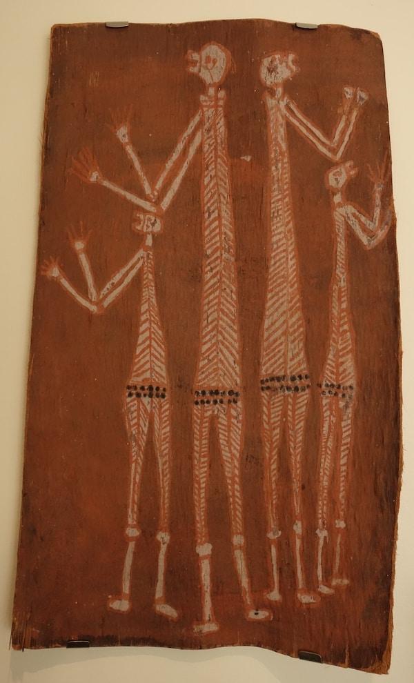 Four mimih spirit bark painting