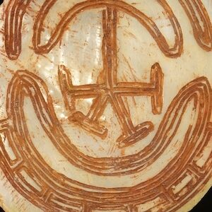 Bilaterally Symmetrical Aboriginal pearl shell