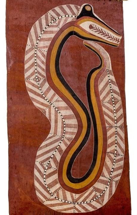 Curly Bardgudubbu serpent