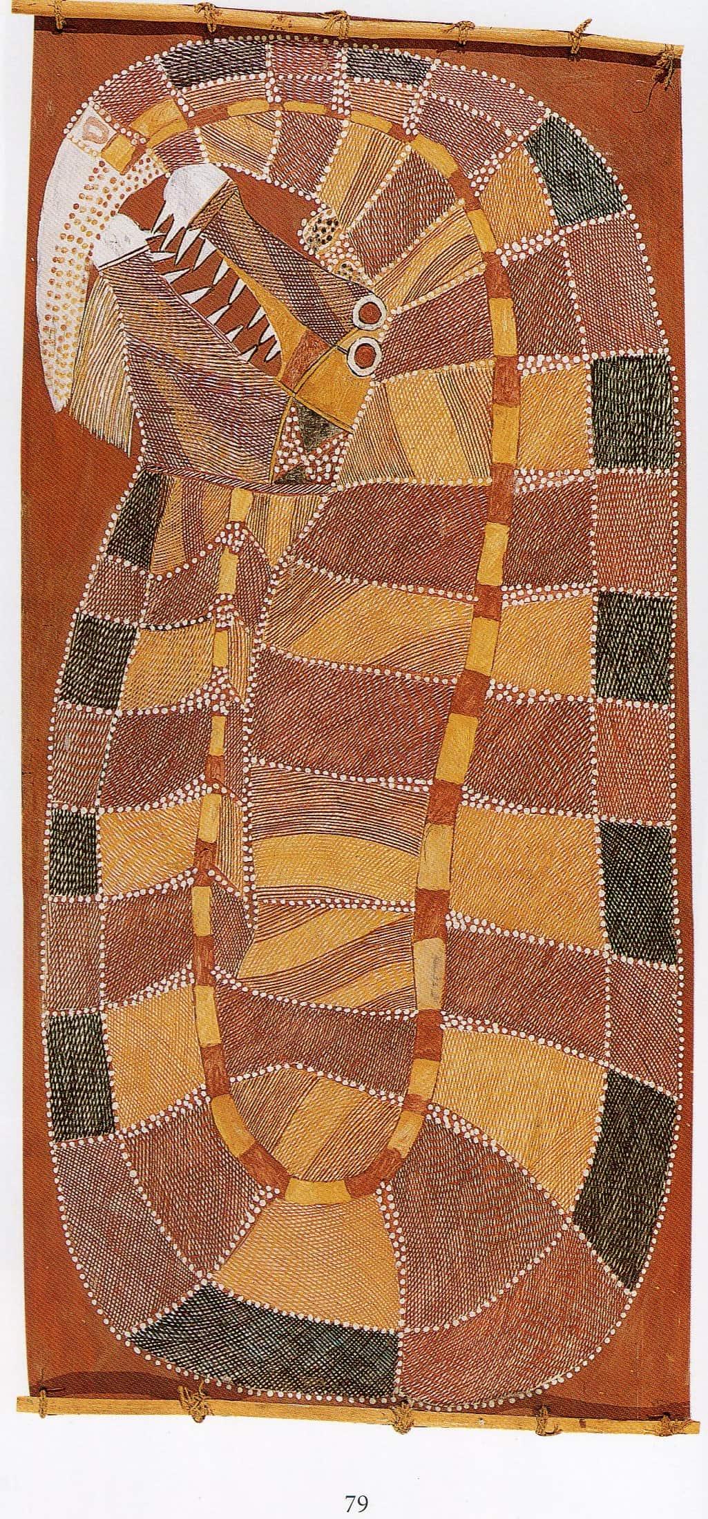 Peter marralwanga Rainbow serpents