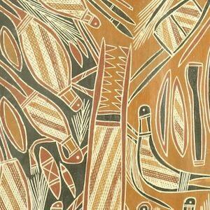 Peter Banjuljul bark painting copy